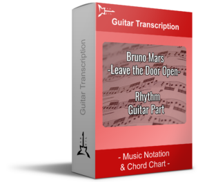 Bruno Mars Leave the door open -Red guitar transcription Music Notation & Chord Chart