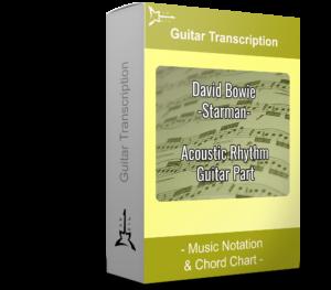 David Bowie Starman - Yellow guitar transcription - Music Notatiion & Chord Chart