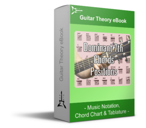 Dominant 7th Chords Positions Green guitar theory eBook - Music Notation, Tablature & Chord Chart