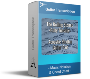 The Rolling Stones Ruby Tuesday - Blue guitar transcription - Music Notation & Chord Chart